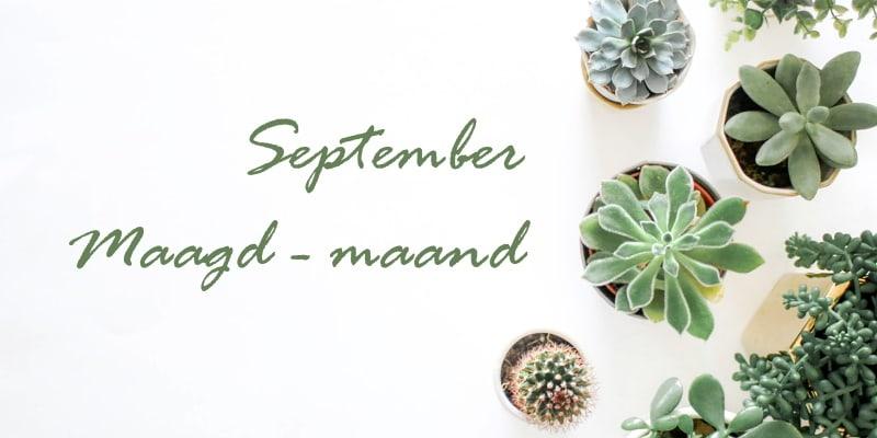 September is Maagd-maand: neem je boel in handen