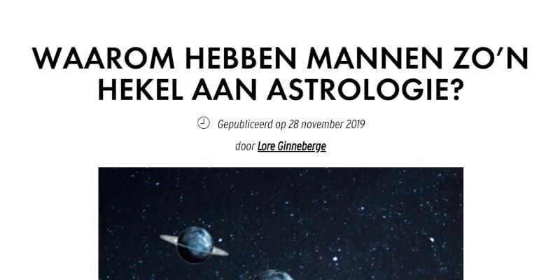 """Elle Mag vraagt: """"Mannen een hekel aan astrologie?"""""""