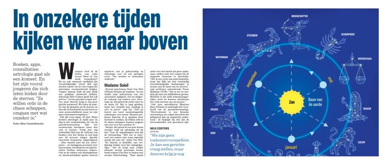 Adara in Het Nieuwsblad: de comeback van astrologie